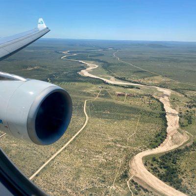 aeroplane flying to namibia
