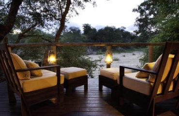 Rhino Post Safari Lodge - Bedroom deck